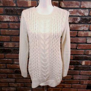 Club Monaco Cableknit Crewneck Wool Blend Sweater